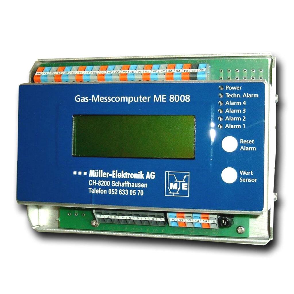 Gaswarnzentrale ME 8008, ein nicht mehr produzierter Gasmesscomputer von Müller-Elektronik AG