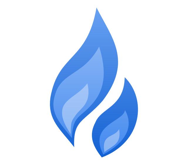 Erdgasmessung für Küche und Heizung