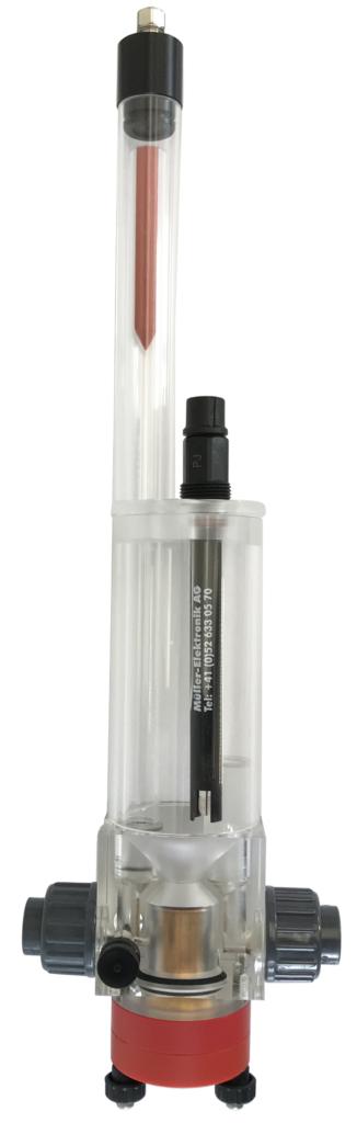 AquaSens Messarmatur für Wassermessung von pH-Wert und Chlorgehalt, unter Druck oder freier Durchlauf