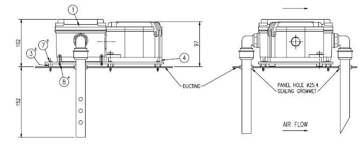 Air Sampling Unit Seitenansicht
