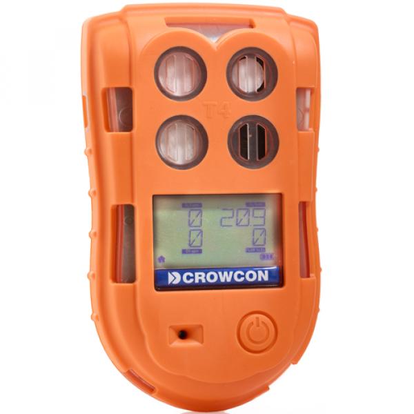 Crowcon T4, 4 Gas Messgerät zur einfachen Gasmessung von einer Auswahl verschiedener Gasverbindungen. Häufig wird das T4 in der Konfiguration für Kanal- und Tunnelarbeiten angewendet.