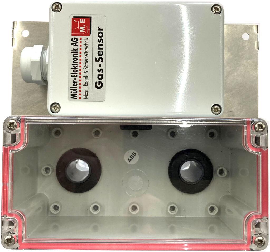 ME 1250 Airbox, Frontansicht mit ME 1250 Gassensor