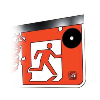 LED Warnleuchte Parking für Alarmierung bei hoher Abgaskonzentration in Tiefgaragen. Gemäss SWKI Richtlinie.