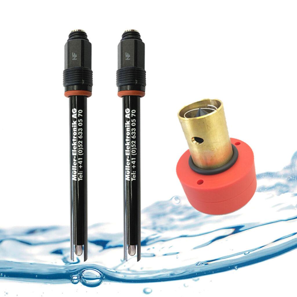 Wasser Sensoren pH, Redox, Chlor Messzelle